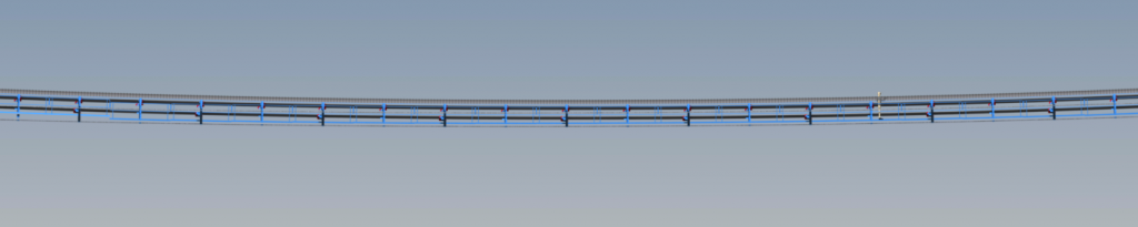 An image showing the Belt Conveyor at Mid Span with Allowable Curve Radius